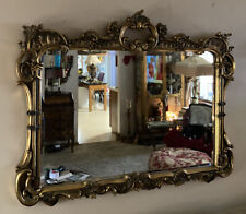 Ornate Gold Carved Frame Wall Mirror Victorian Style 42x32�