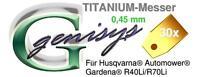 30X 0.45mm Titan Ti1 Ersatz Messer Klingen für Automower 430x