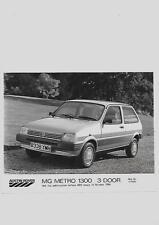 AUSTIN ROVER MG METRO 1300 3-DOOR PRESS PHOTO 'BROCHURE CONNECTED' FOR OCT.'1984