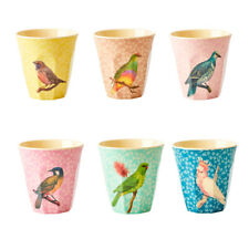 Rice DK Melamine - Vintage Bird Print, Plates and Cups - Choose from 6 Designs