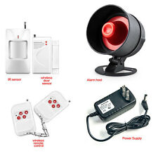 Wireless Home Burglary Security Strobe Alarm Siren System Door Siren Kit US Plug