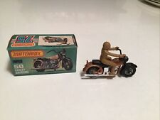 matchbox 75 series harley davidson with Tan rider number 50 With A Box