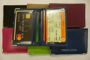 Leather Travel Pass Bus Pass Oyster Card Credit Card Train Ticket Holder