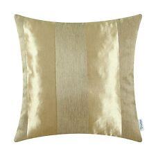 "CaliTime Throw Pillow Cover Shells Home Sofa Stripes Geometric Jacquard 20 x 20"""