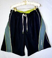 Speedo Board Shorts Mens Size L/G Black Gray Swimwear Trunks