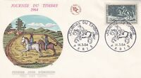 FRANCE 1964 FDC JOURNEE DU TIMBRE YT 1406