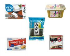 Miso Soupe Set 5tlg. Démarrage Algues Wakame Pâte Dashi Udon Tofu Misosuppe