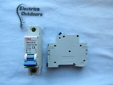 TMA 16 AMP TYPE C 6 KA MCB CIRCUIT BREAKER 230/400V TMA-C1P16 IEC 60898