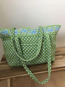Vera Bradley Miller Tote Bag in Green Apple