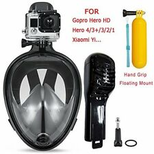 Snorkeling Mask 180° View Scuba Diving Full Face Free Breath Anti-Fog For Gopro