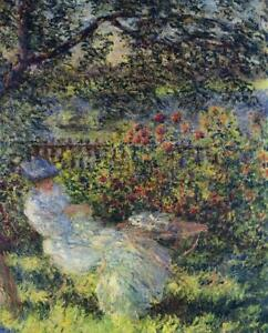 Full Drill Diamond Painting Kit Alice Hoschede in the Garden Claude Monet 1881