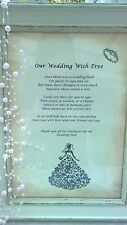 Wedding Wish Tree Poem - Vintage style - Beautiful - Handmade