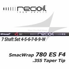 7 Shaft Iron Set 4-W UST Recoil 780 ES SmacWrap Black F4 S Flex .355 Taper Tip