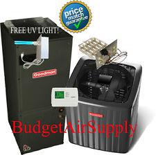 4 Ton Goodman A/C 16 Seer Air Conditioning Split System GSX160481+ASPT48D14 + UV