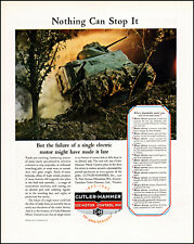 1942 WW2 U.S. army tank combat Cutler-Hammer vintage photo print Ad adL91