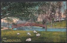 America Postcard - Scene at Holtenbeck Park, Los Angeles, California RT1044