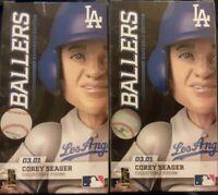 2x LOT - Corey Seager #5 Ballers Sports Crate Loot BaseBall MLB LA Dodgers 03.01