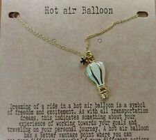 Nature's Jewelry Enameled Goldplate Hot Air Balloon Pendant