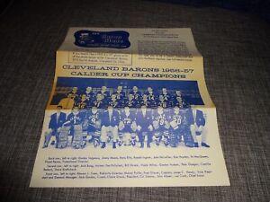 Original JULY, 1957 The Baron Blade- CLEVELAND BARONS HOCKEY CLUB- Fair