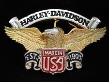 OA11164 VINTAGE 1991 **HARLEY-DAVIDSON** MOTORCYCLES SOLID BRASS BELT BUCKLE