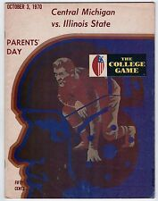 1970 CENTRAL MICHIGAN CHIPPEWAS Illinois State Redbirds COLLEGE FOOTBALL Program