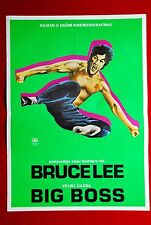 BRUCE LEE BIG BOSS LO WEI 1971 RARE EXYU MOVIE POSTER