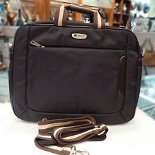 "Up to 15.6"" Nylon/Leather 'Obosi' Laptop bag, Computer case, Computer bag. Black"