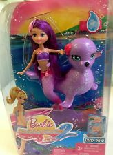 Barbie in A Mermaid Tale 2 Mermaid Friend Doll and Sea Lion Pet Set W2888 NEW