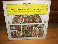 RIMSKY KORSSAKOFF-SCHEHERAZADE-BERLIN-KARAJAN-DGG 139 022 STEREO TULIPS LP