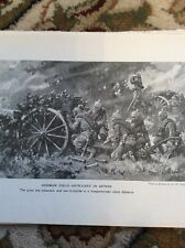 R3 Ephemera 1918 Ww1 Book Plate German Artillery In Action Crew
