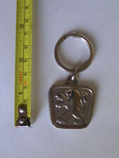 VINTAGE PEUGEOT BADGE LOGO METAL KEY CHAIN KEYRING RARE COLLECTORS PIECE /EXC/