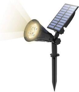 T-SUN LED Solar Spot Lights Outdoor Security Garden Landscape Natural Light Lamp