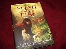 Flesh and Fire by Laura Anne Gilman 2009, Best Selling Author Retriever HC & DJ