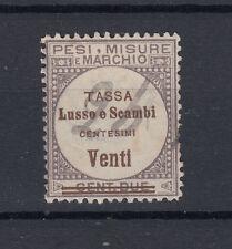 1920 MARCHE DA BOLLO TASSA LUSSO E SCAMBI 0,20 LIRE II SEZIONE USATA 1