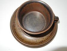 1 ARABIA RUSKA Teetasse Tee Tasse mit Untertasse 60er 70er vintage