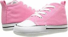 Neu Baby Mädchen Erste Converse UK Größe 4 Pink Weiß IN Geschenkbox Eu 20 Schuhe