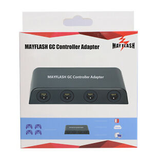 Mayflash 4 Port Adapter for GameCube Controller to WiiU & PC Smash Brothers
