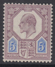 SG 242 5d Dull Purple & Ultramarine M28 (1) in very fine & fresh unmounted mint.