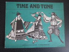 BBC Time and Tune  - Summer 1969 (Hungary,Spain,Italy) - Children Songbook