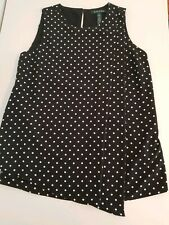 Lauren Ralph Lauren sleeveless black & white  polka dot top size 2