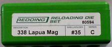 80594 REDDING 2-DIE FULL LENGTH 338 LAPUA MAGNUM DIE SET - BRAND NEW - FREE SHIP