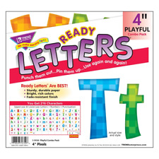 Pixels 4-Inch Combo Classroom Display Ready Letters - 216 Characters