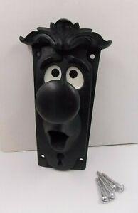Alice in wonderland Style Black door knob Fix to any door