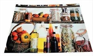 2 Tischset Platzset Set Küche Cerealien Stoff hochwertig 33 x 45 cm