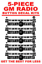 5 PCS GM CHEVROLET Silverado Escalade Tahoe Stereo Radio Button Repair Decals