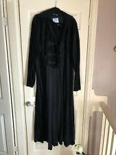 Gothic Long Black Velvet Coat 2XL