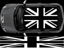 BLACK UNION JACK FLAG ROOF FOR MINI GRAPHIC DECALS STICKERS