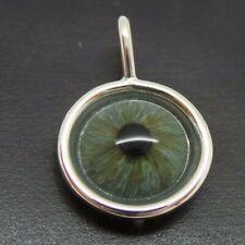 Hand Blown Glass Ocular Prosthetic Human Artificial Eye PENDANT 1930s