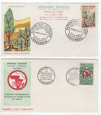 Madagascar  Tatanarive 2 FDC enveloppes timbres 1er jour 1960 /FDC112