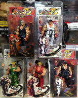 """Street Fighter Ken Ryu Guile NEC Action Figure Player Select Game Survival 7"""""""